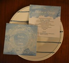 invitatie nunta watercolor Paper Goods Art, papergoodsart.ro