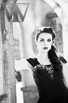Black And White Photography gothic | Black-Dress-Fashion-Nature-Winter-Portrait-Photography-Black and White ...