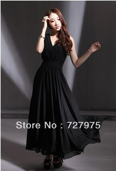 2013 Women Star Dress Summer New Style Plus Size Ultralarge Women Black And Yellow Chiffon Full Dress Free Shipping from Reliable korea dress . $49.99