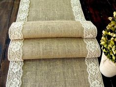 Burlap table runner with vintage cream lace wedding table runner rustic romantic wedding, handmade in the USA Camp Wedding, Wedding Table, Rustic Wedding, Wedding Ideas, Wedding Photos, Rustic Chic, Shabby Chic, Burlap Table Runners, Party Table Decorations