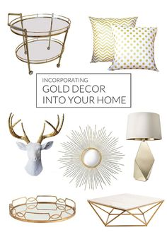 decorating with gold accents.