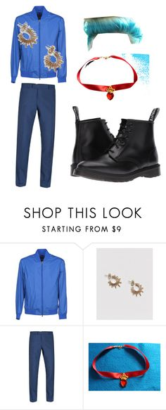 """""""Evie boyfriend"""" by elizabeth-applejack ❤ liked on Polyvore featuring Z Zegna, Pieces, Dr. Martens, men's fashion and menswear"""