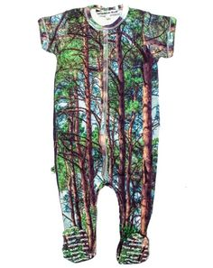 Deep Forest Footie Onesie