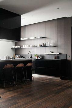 desire to inspire - desiretoinspire.net - Joanna Laajisto #kitchen #open #shelves #black