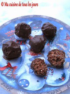 Ma cuisine de tous les jours: Truffes noix de coco et dattes Vegan Desserts, Muffins, Cookies, Christmas Recipes, Breakfast, Sweet, Brownie Trifle, Truffles, Dates