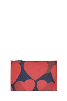 simple hearts pouch by VICTORIA BECKHAM. Available in-store and on Boutique1.com