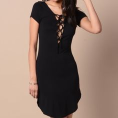 Black lace up dress Brand new Dresses Mini