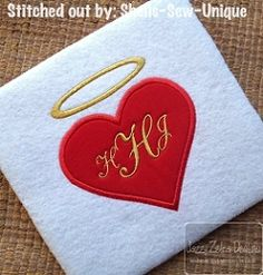 Angel Heart Applique - 4 Sizes! | What's New | Machine Embroidery Designs | SWAKembroidery.com Jazzy Zebra Designs