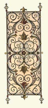 Wrought Iron Panels I