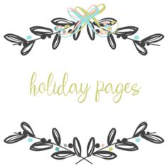Add On Page - Holiday Bundle Pages - Blue Traditional / White Linen Finish