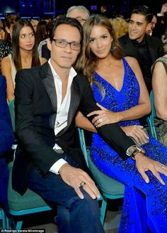 Newlyweds Marc Anthony and Shannon de Lima make PDA-filled debut Marc Anthony And Jlo, Prom Dresses, Formal Dresses, Famous Faces, Newlyweds, Awards, Singer, Couples, Vestidos