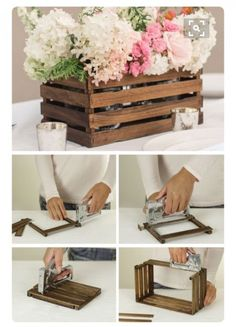 17 homemade wedding decorations for couples on a budget pinterest diy rustic stick basket never throw away the paint stir sticks next time check out this one you will find you can use them to a beautiful and inexpensive junglespirit Images