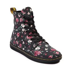 Shop for Womens Dr. Martens Hackney 7-Eye Boot in Black Roses at Shi by Journeys. Shop today for the hottest brands in womens shoes at Journeys.com.