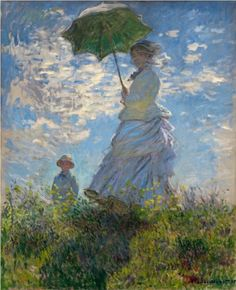 The Promenade, Woman with a Parasol - Claude Monet
