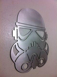 Star Wars Stormtrooper Helmet Mask Steel Metal Wall Art