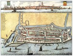 Stavoren 1664 Schotanus Early World Maps, Star Fort, Hellenistic Period, Classical Antiquity, Old Maps, Fortification, City Maps, Netherlands, Holland