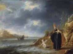 Bonaventura Peeters I (Antwerp 1614-1652 Hoboken) Saint Augustine's vision of the Christ Child, Dutch.