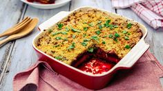 Gemüselasagne mit roter Bete | Kalorien: 247 Kcal - Zeit: 20 Min. | http://eatsmarter.de/rezepte/gemueselasagne-28