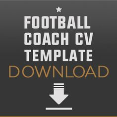 Football cv template and ebook careers in football pinterest how to become a football coach free downloadable football coach cv template and a yelopaper Choice Image