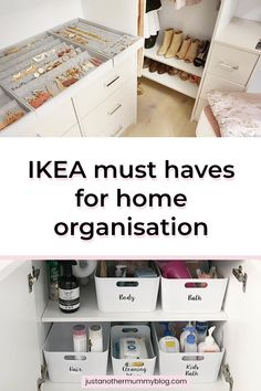 Is your house filled with clutter? Here are some simply amazing tips and tricks to declutter and organise small spaces Home Organisation Tips, Storage Room Organization, Wardrobe Organisation, Small Space Organization, Organize Small Spaces, Clothes Storage Ideas For Small Spaces, Household Organization, Closet Storage, Ikea Hack Storage