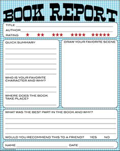 Levels Of Free Printable Book Reports From Kid Lit Printables