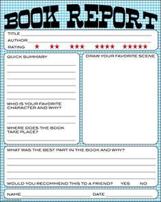TeachingintheSunshine Book Report -  Scroll down to Feb 22nd