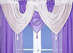 Voile Swag With Tassel (Lilac): Amazon.co.uk: Kitchen & Home