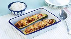 Oppskrift på Ovnsbakt squash med kjøttdeig og ris, foto: