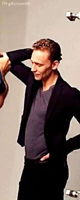 Hiddles poses :X