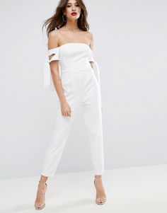f18806a721e Summer White Cold Shoulder Pants Jumpsuit! See more jumpsuits like this  here  https