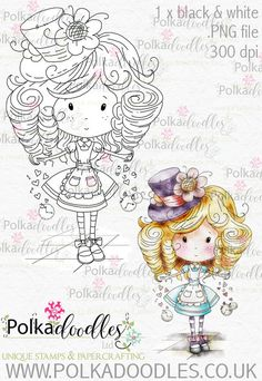 Winnie Wonderland - Printable Digital stamp download - Polkadoodles Ltd
