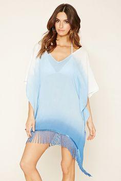 e8963c71ce44b Tie-Dye Swim Cover-Up Kaftan (Cream Blue) for  14 http