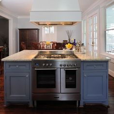 Kitchen Island With Cooktop island cooktop | island hood over wolf range top | remodel ideas