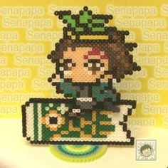 1 Pixel, Pixel Beads, Perler Beads, Luigi, Beading, Anime, Cross Stitch, Crafts, Character