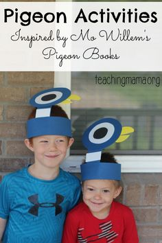 Pigeon Activities Inspired by Mo Willem's Books - A day FULL of pigeon activities for kids!
