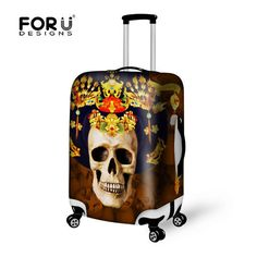f6a094d881f5 For U Designs Chinoiserie Skull Head Suitcase Luggage Cover for 20