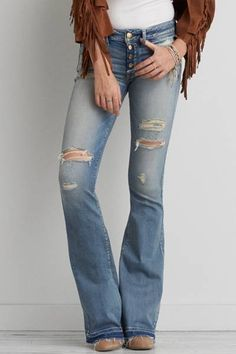 Erin Wasson Horse Blue Ripped Flare Jeans at PacSun.com | Trend We ...