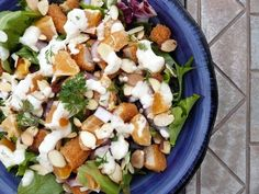 Chicken & Tangerine Salad with Honey Ginger Yogurt Salad Dressing (featured by Bon Appetit) ~ Sumptuous Spoonfuls #salad #recipe