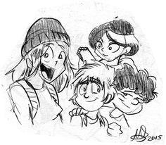 Dibujito de mariods - Mixto V  Dibujito que me hizo Mario por participar en el Franken de Toby,el chico ardilla =D  #MixtoV #fanart #mariods #Vero #Vito #Vane #Vinsen #comic #webcomic