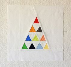 I can imagine this as a whole quilt with over sized triangles! Check thru links