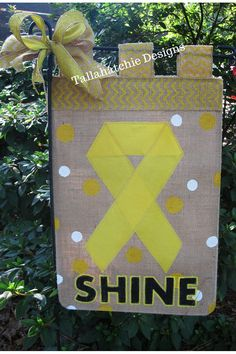 Cancer Awareness Garden Flag Cancer by TallahatchieDesigns on Etsy