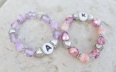 Newborn Size Twin Girls ID Bracelets Set of by MonkeysNMunchkins, $15.00