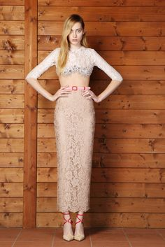 Alessandra Rich Spring 2014 #embellished #lace