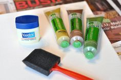 Painting with Vaseline
