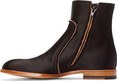 Maison Martin Margiela - Black Classic Satin Boots