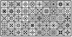 50 Blackwork Snowflakes by sebadesigns on Etsy, $5.00