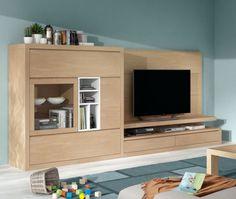 MIRIAM Wohnwand IV Weiss/San Remo Sand #wohnzimmer #wohnwand #eiche |  Wohnzimmer | Pinterest | Tv Walls, Tv Units And Wall Ideas