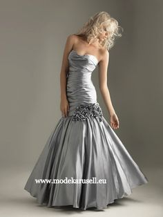 Abendkleid Adonia in Silber grau Lang  www.modekarusell.eu