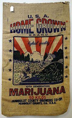 """22""""x36"""" USA Home Grown Humboldt Burlap Bag"""