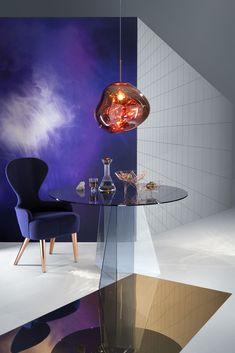 Pendelleuchte Melt / Ø 50 cm, Gold von Tom Dixon finden Sie bei Made In Design, Ihrem Online Shop für Designermöbel, Leuchten und Dekoration.